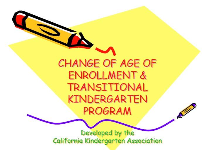 tkp - Transitional Kindergarten Curriculum