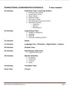 Transitional Kindergarten Schedules image 231x300 - Transitional Kindergarten Curriculum